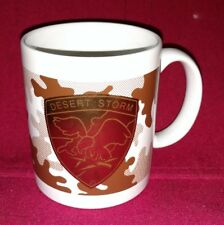 Desert Storm Gold Tone, Eagle Holding Lighting Bolts Brown Camo Coffee Cup Mug