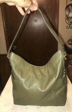 Fossil Forrest Green Leather Shoulder Tote  SHB1768
