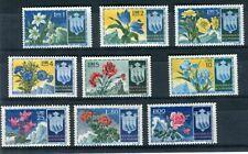 San Marino 1952 1953 fiori mnh