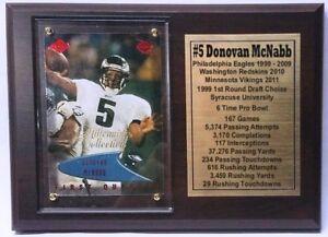 Philadelphia Eagles Donovan McNabb Football Card Plaque