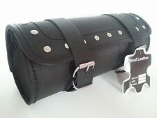 MOTORCYCLE MOTORBIKE GENUINE LEATHER TOOL ROLL SADDLE BAG TR7