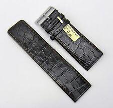 Uhrenarmband Leder 30mm braun dunkel Kroko Optik 30/28 Spring Rece