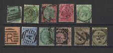 INDE ANGLAISE Victoria 11 timbres anciens oblitérés / T1475