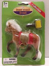Derby Stable Ecurie Horse Collection Brown Horse White Mane Tail Comb Saddle