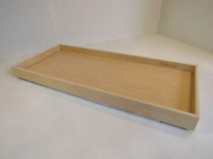 ShelfGenie Slideout Cabinet Shelf 33-3/4in L x 14-3/4in W x 2-3/4in H Natural