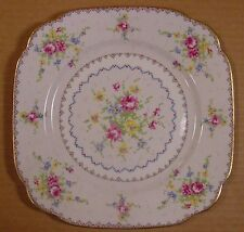 "Royal Albert Petit Point 7 3/4"" Square Luncheon Plates Made in England"