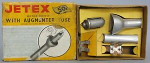 Vintage Boxed Jetex Motor With Augmenter Tube & Empty Speedboat Box