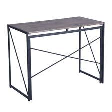 Industrial Wood Foldable Computer Laptop Desk Back To School Study Table Walnut