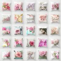 Artificial flower throw pillows case for sofa official cushion cover Home Decor