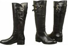 RALPH LAUREN Maren Black Leather Belted Buckle Equestrian Riding Boots Shoes 11