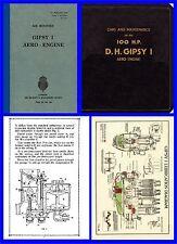 Gipsy I Aero Engine Manuals x 4  on CD - DH60 etc