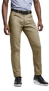 Nike Flex Men's Slim Fit 5-Pocket Golf Pants Sz 42-30 891924-297 Biege Fast Ship