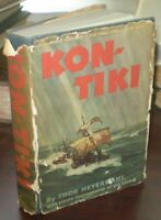 KON-TIKI, by THOR HEYERDAHL, 1950, FIRST EDITION, IN AN UNCLIPPED DJ