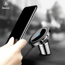Baseus 2 in 1 Car Magnetic Holder Qi Wireless Fast Charger For iPhone Samsung