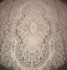 "Vintage White Lace Tablecloth Rectangle 80"" X 54"""