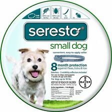 NEW BAYER SERESTO 8 MONTH FLEA & TICK COLLAR FOR SMALL DOG FREE WORLD SHIPPING