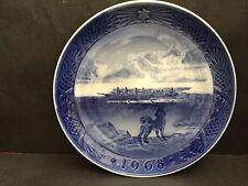 Copenhagen Blue Plate 1968 The Last Umiak