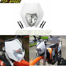 Dirt Bike Motorcycle 12V Enduro Front Headlight Fairing For KTM Yamaha Honda