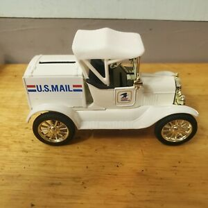 ERTL 1918 Ford Model T Runabout US Mail Coin Bank With Key
