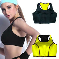 US Women Sports Bra Vest Shaper Thermo Sauna Sweat Suit Neoprene S-3XL