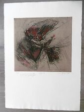 Maud GREDER Gravure originale 1987 n° signée Envoi Abstrait Josette Jallut