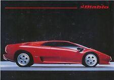 Lamborghini Diablo 5.7 1990 Original Swiss Market Leaflet Brochure