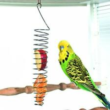 Parrot Bird  Fruit Basket Toys Stainless Steel Feeding Device Birds Cage Feeder