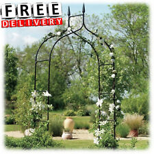 Metal Garden Arch Wedding Arbor Ivy Trellis Rose Patio Climbing Plant Iron  Gate