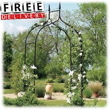 Metal Garden Arch Wedding Arbor Ivy Trellis Rose Patio Climbing Plant Iron  Gate