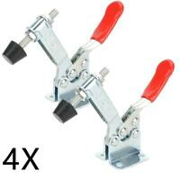 4x GH-201B Toggle Clamp Quick Release Hand Tool Holding Capacity 90Kg/198Lbs