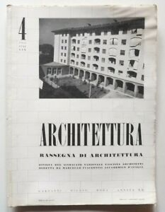 Architettura Rivista sindacato fascista  4 1941 Marcello Piacentini Luigi Lenzi