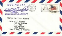 Space Shuttle B-747 Proficiency Test Flight Pilot Fulton, Edwards 13.11.80