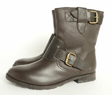 Ravel Boot Double Buckle Ankle Boot Leather Brown Size 6 New £26.99
