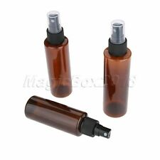 3Sizes Brown Atomizer Pump Glass Refillable Perfume Spray Empty Bottle 5Pcs