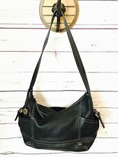 EUC! THE SAK KENDRA Black Pebbled 100% Leather Shoulder Hand Bag, Hobo Purse