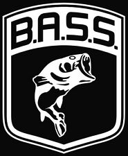 Bass Fish fishing boats vinyl die cut decal sticker choose color