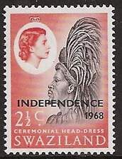 Swaziland 1968 Independence 2½c inverted watermark