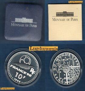 Coffret BE 10 Francs Argent 1996 Coupe du Monde 1998 Idéal du Football