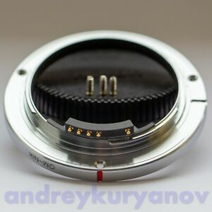 Olympus OM to Nikon F lens mount with Dandelion chip.Read description! OM Nikon.