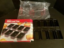 NEW IN BOX Norpro Nonstick Linking Mini Bread Meatloaf Dessert Pan 8 Slot #3943