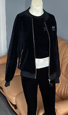 adidas velour tracsuit Jacket Top Leggings Size XS