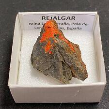 REJALGAR Realgar - Pola de Lena, Asturias - CAJA CAJITA 4x4 - SPAIN MINERAL N797