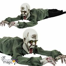 Crawling Moving Zombie Animated Light Talking Halloween Party Horror Floor Prop