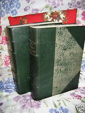 Grand Memento Encyclopédique Larousse Belle reliure Cuir 1936-37 2 volumes