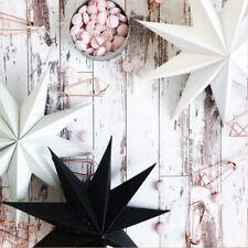 1Pcs 30cm Nine Angles Paper Star Hanging Christmas Lantern DIY Craft Decoration