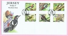 JERSEY Post 2010 - FDC - BIRDLIFE IV - WOODLAND BIRDS - Special Handstamp