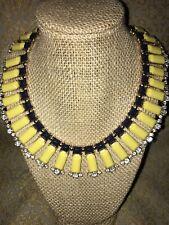 J. Crew Yellow Navy Gold Bibb Collar Necklace SUMMER COLORS GORGEOUS