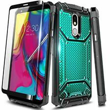 For LG Stylo 5/5V/5x/5 Plus Case Metal Aluminum Phone Cover + Tempered Glass