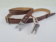 More details for genuine rolleiflex rollei brown leather scissor neck strap ro44