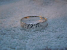 NEW PURE SILVER .999 BULLION SZ5 WOMAN RING BY JOEY NICKS ANARCHY JEWELRY #G362D